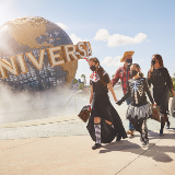 Family Trick-or-treating at Universal Orlando Resort